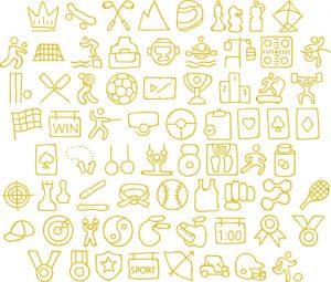 sports 2 glyphs icon