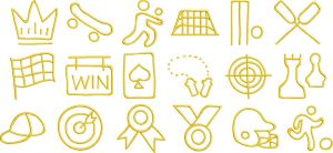 sports 2 glyphs gallery image