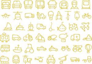 transport 1 glyphs icon