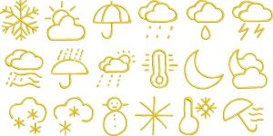 weather glyphs gallery image