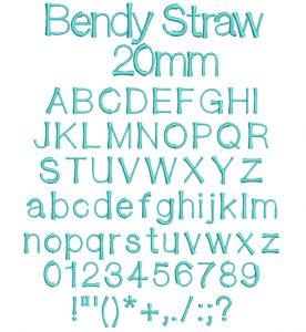 Bendy Straw font icon