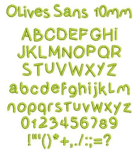 Olives Sans 10mm esa font icon