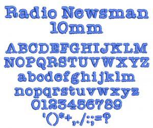 Radio Newsman ESa font icon
