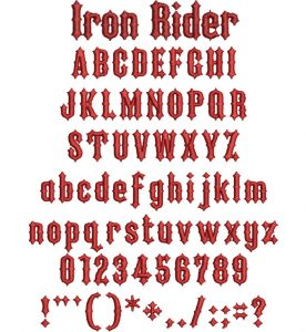 Iron Rider 20mm esa font icon