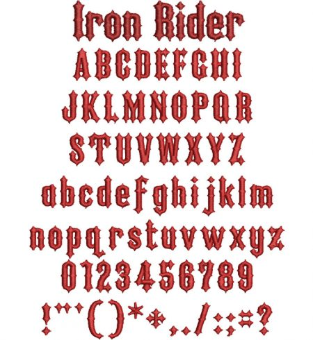 Iron Rider 20mm esa font icon