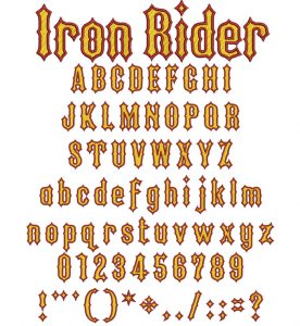 Iron Rider 40mm two color esa font icon