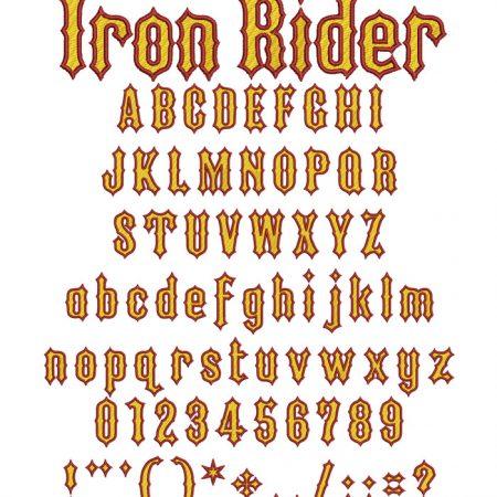 Iron Rider 40mm two color esa font icon