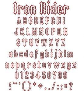 Iron Rider applique esa font icon