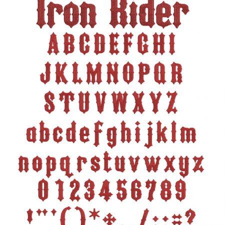 Iron Rider flexi fill esa font