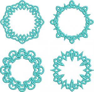 celtic circles 75mm esa font sew out