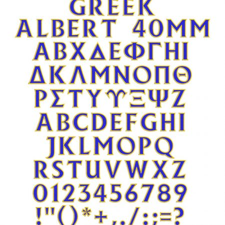 greek albert 2 color esa font icon