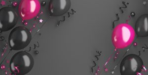 Black Friday Sale Background Decoration With Pink Balloon, Confe