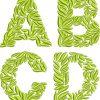 leaf monogram 60mm esa font gallery image