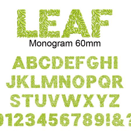 Leaf monogram 60mm esa font