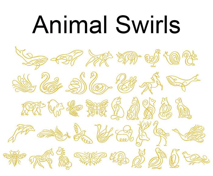 animal swirls esa glyph icon